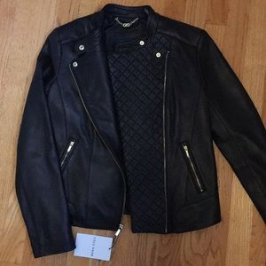 NWT Cole Haan Gorgeous soft leather jacket